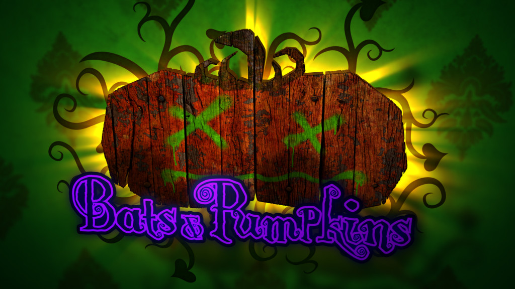 Bats & Pumpkins - Animated Halloween Logo
