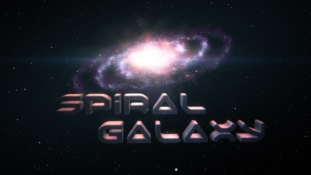 after effects template spiral galaxy logo stinger evil planet studios