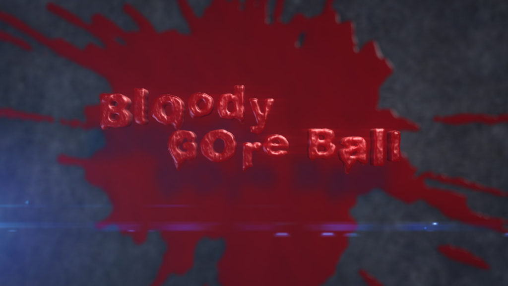 Bloody Gore Ball. A Disgusting Gory Sack of Flesh Halloween After Effects Template