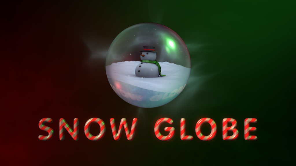 Snow Globe logo reveal After Effects template