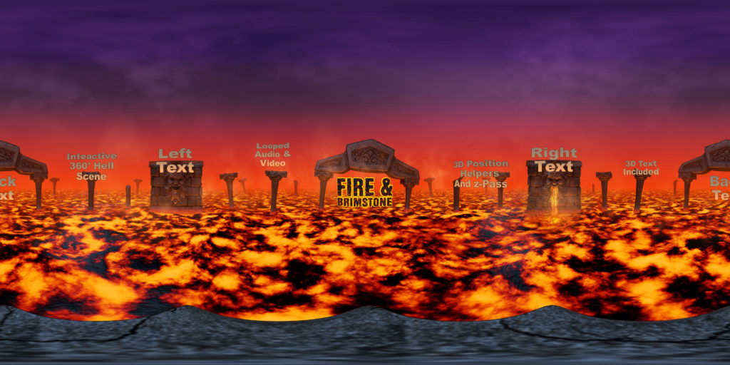 360 After Effects Template: Fire & Brimstone